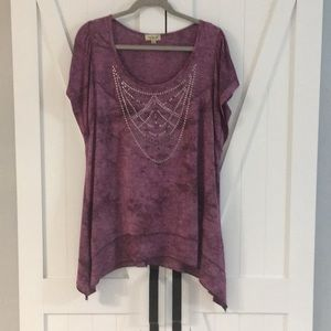 One world Studded top